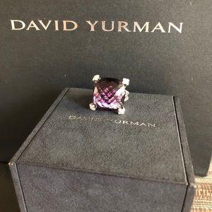 David Yurman Amethyst Cushion on Point Ring